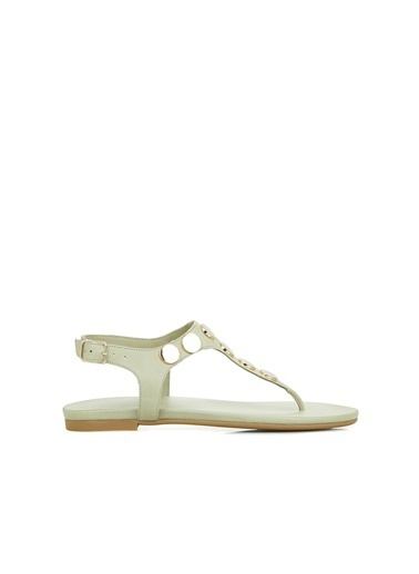 Divarese Divarese 5025175 Taş Detaylı Mınt Kadın Sandalet Yeşil
